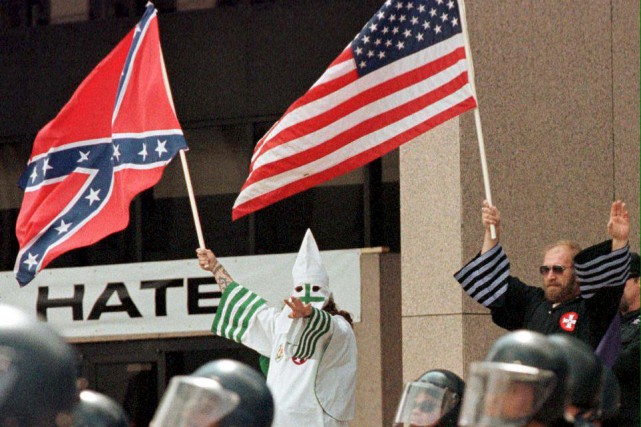 Depuis l'élection de Donald Trump, le Ku Klux... (Archives, AFP)