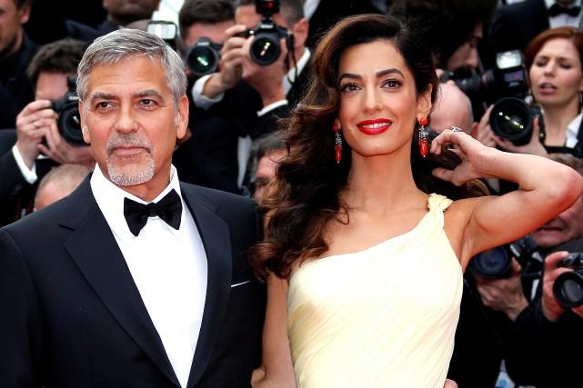 George et Amal Clooney.... (Photo Reuters)