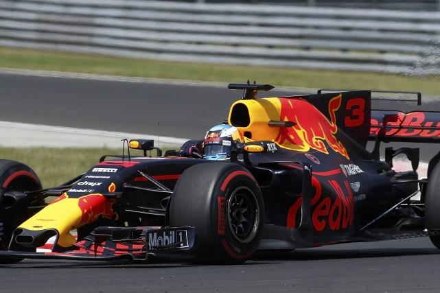Daniel Ricciardo a obtenu cinq podiums lors de... (Associated Press)