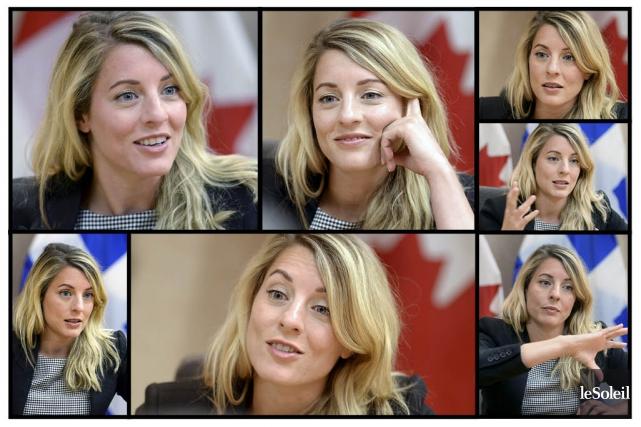 La ministre du Patrimoine canadien, Mélanie Joly... (Le Soleil, Jean-Marie Villeneuve)