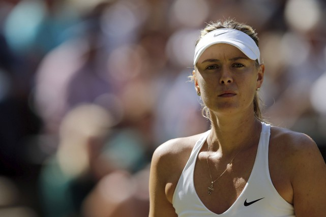 Désormais 173e mondiale, Maria Sharapova s'est blessée à... (Archives AFP, Adrian Dennis)