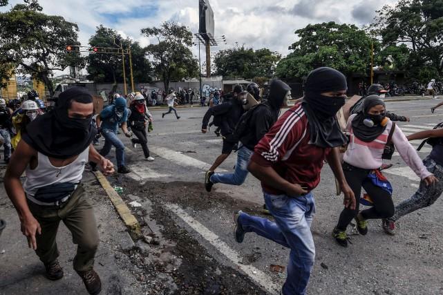 Le 28 juillet, au deuxième jour d'une grève... (AFP, Juan Barreto)