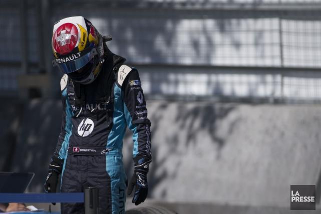 Sebastian Buemi, qui croyait avoir terminé quatrième samedi... (PHOTO OLIVIER JEAN, LA PRESSE)
