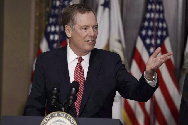 Le représentant au Commerce des États-Unis, Robert Lighthizer... (AP, Evan Vucci)