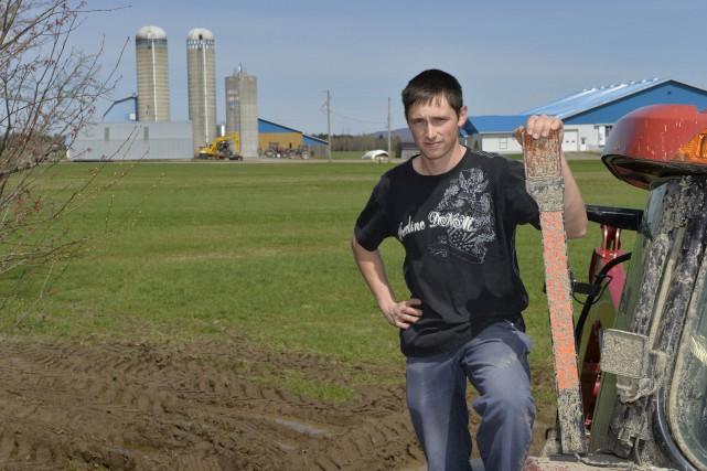 L'agriculteur et président du Syndicat de la relève... (Spectre Média, Maxime Picard)