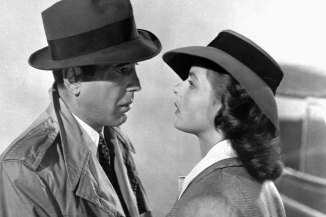 Humphrey Bogart et Ingrid Bergman dans une scène... (PHOTO AP)