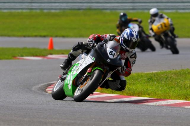 C'est cette moto, pilotée par Samuel Proulx, qui... (UDES)