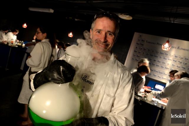 Le fondateur de Zapiens communication scientifique, Joël Leblanc,... (Le Soleil, Yan Doublet)