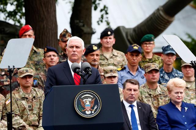 Le vice-président américain Mike Pence a livré un... (PHOTO REUTERS)