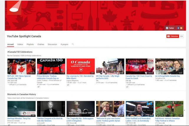Le site YouTube lance une chaîne consacrée spécifiquement aux talents... (Capture d'écran)