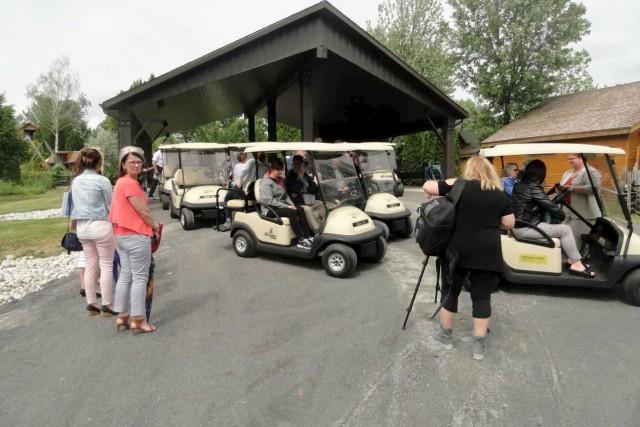 La location de voiturettes électriques au Jardin Scullion... (Photo courtoisie)