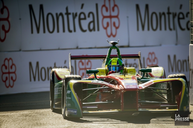 Luca DiGrassi lors du ePRIX de Formule E... (Photo Olivier Jean, La Presse)