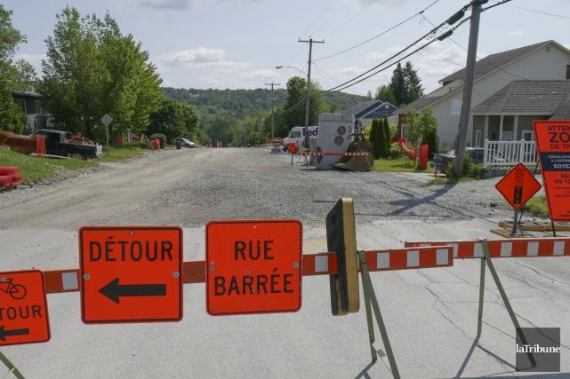 Les grands travaux routiers de Sherbrooke, comme sur... (Archives, La Tribune)