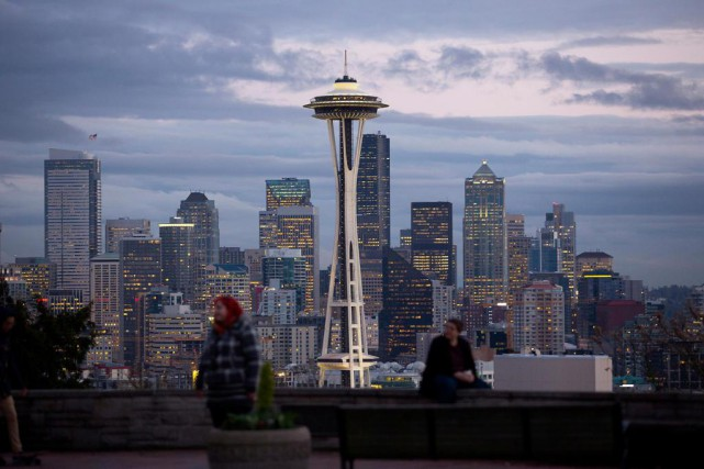 Seattle, plus grande ville de l'État de Washington,... (Photo Mike Kane, Archives Bloomberg)