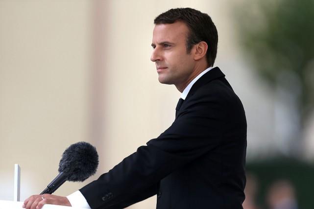 Le parti du président Emmanuel Macron va informer... (PHOTO CHARLY TRIBALLEAU, AGENCE FRANCE-PRESSE)