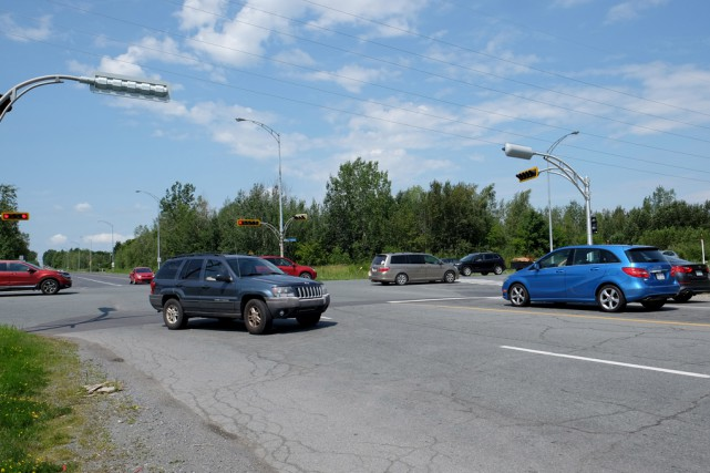 L'intersection de la route 139 et de la... (Alain Dion)