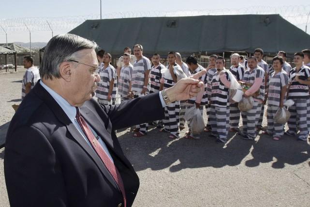 L'ancien shérif de l'Arizona Joe Arpaio s'était notamment... (AP, Ross D. Franklin)
