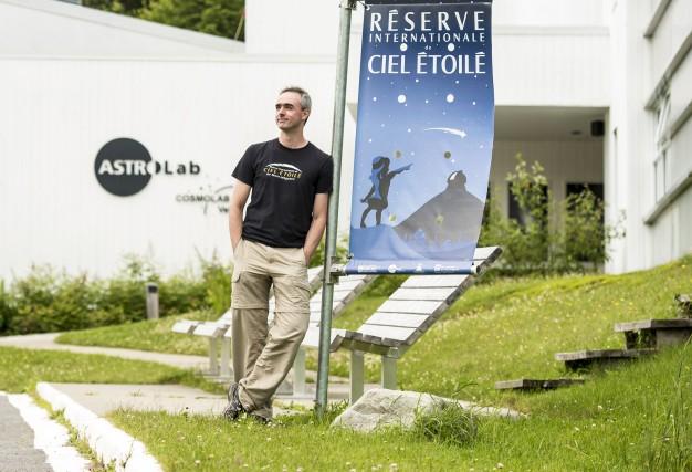 Sébastien Giguère, coordonnateur scientifique de l'Astrolab, est tombé... (Spectre Média, Jessica Garneau)