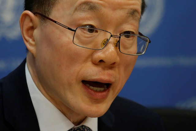 L'ambassadeur de Chine aux Nations unies, Liu Jieyi.... (PHOTO REUTERS)