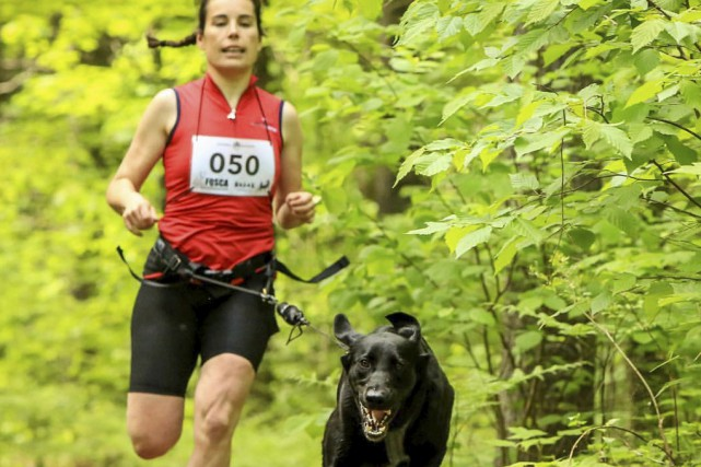 Geneviève Baril, présidente de Sirius Sports Canins, et... (fournie par Geneviève Baril)