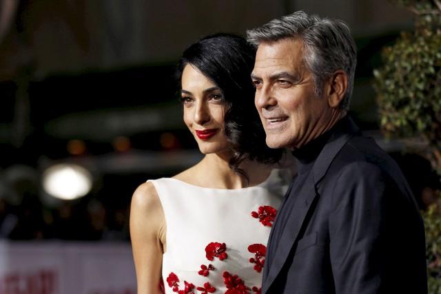 Amal et George Clooney.... (ARCHIVES REUTERS)