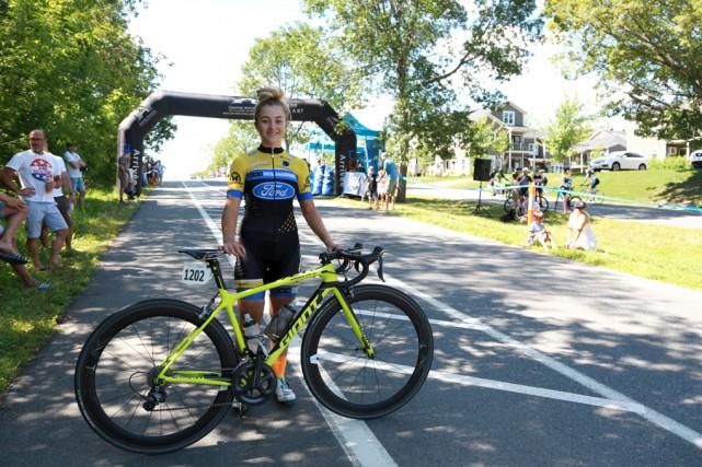 Simone Boilard a remporté l'épreuve du critérium chez... (Catherine Trudeau)