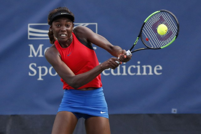 Françoise Abanda... (Photo Geoff Burke, USA Today Sports)