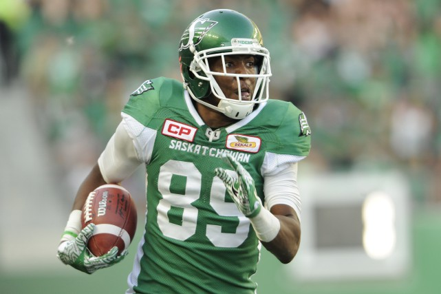 Duron Carter, des Roughriders de la Saskatchewan, a... (Photo Mark Taylor, archives PC)