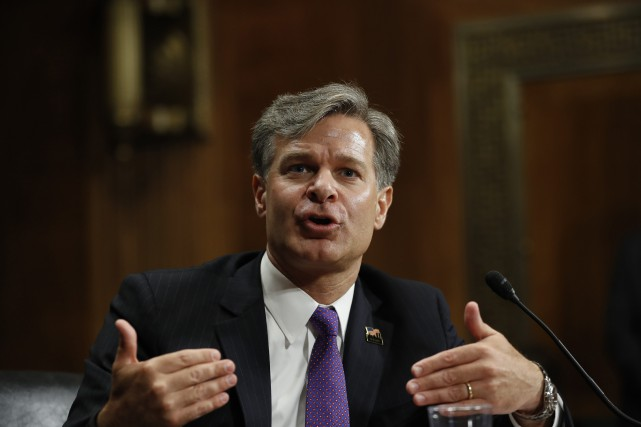 Christopher Wray... (PHOTO AP)