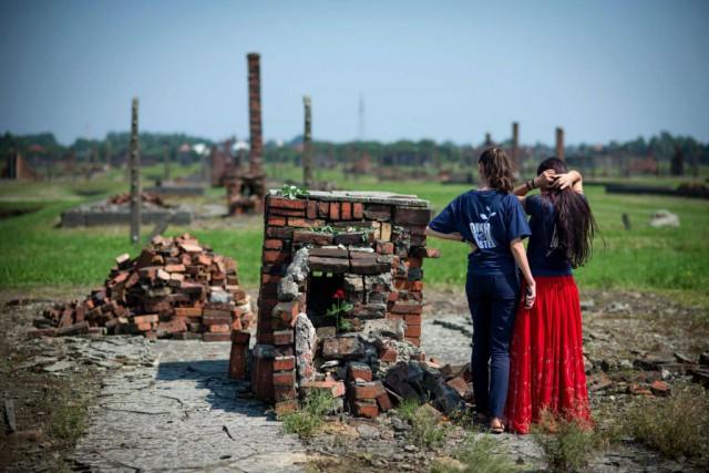 Les ruines de l'ancien camp d'Auschwitz-Birkenau, en Pologne.... (PhotoBARTOSZ SIEDLIK, archives Agence France-Presse)