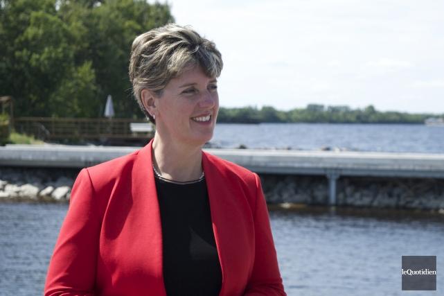 La ministre du Développement international et de la... (Photo Le Quotidien, Dominique Gobeil)