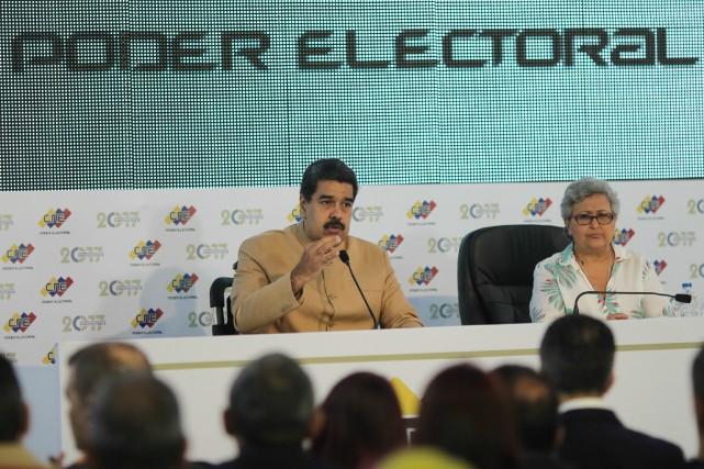 Le président du VenezuelaNicolas Madurofait partie de la... (Photo REUTERS)