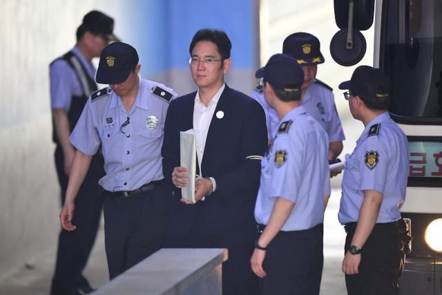 C'est la première fois que Lee Jae-Yong, vice-président... (PHOTO JUNG Yeon-Je, AFP)