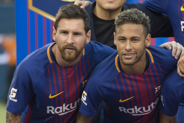 Lionel Messi et Neymar... (Photo Don Emmert, AFP)