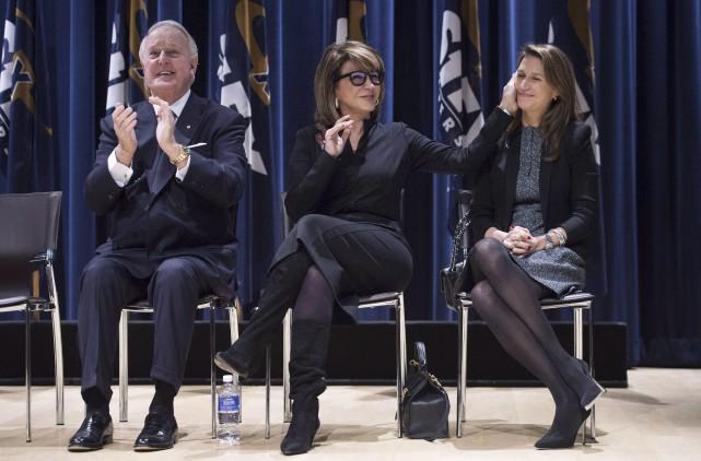 Brian Mulroney, sa femme Mila et sa fille... (La Presse canadienne, Darren Calabrese)