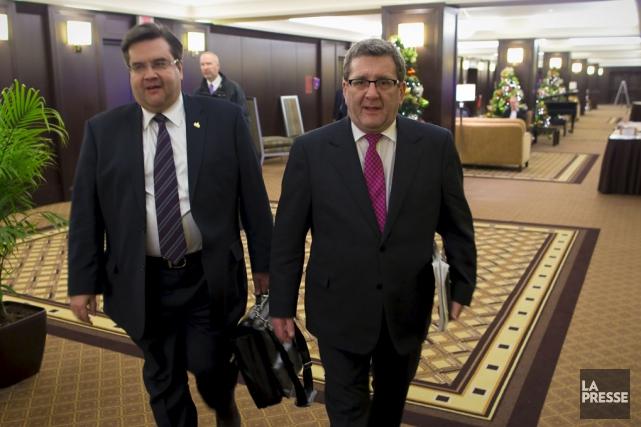 Le maire de Montréal Denis Coderre et lemaire... (archives La Presse)