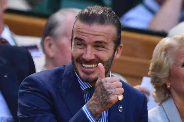 David Beckham... (PHOTO AFP)