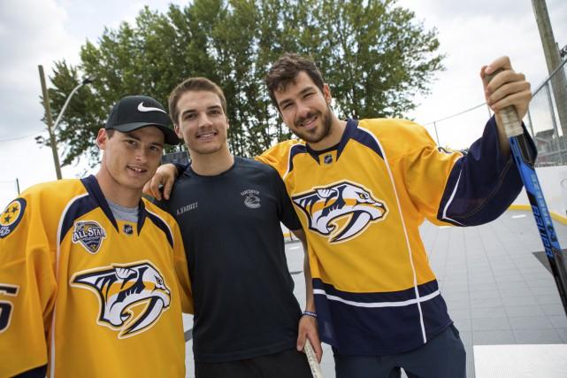 Les hockeyeurs Anthony Richard, Alexis D'Aoust et Frédérick... (Olivier Croteau)