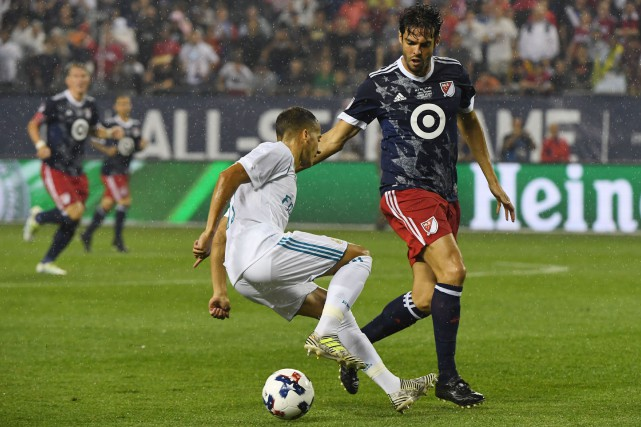 Lucas Vazquez (17) et Kaka (10)... (Photo David Banks, USA Today Sports)