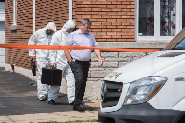 La Sûreté du Québec est dans ce duplex... (photo: François Gervais)