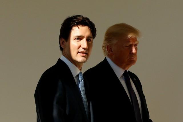 Justin Trudeau a été accueilli à la Maison-Blanche... (ARCHIVES REUTERS)