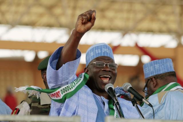 L'ex-président nigérian Goodluck Jonathan a fait voter en... (ARCHIVES REUTERS)
