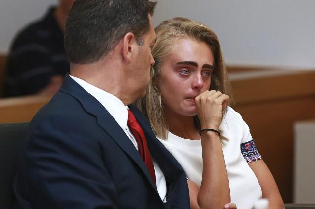 À la lecture du jugement, Michelle Carter n'a... (PHOTO AP)