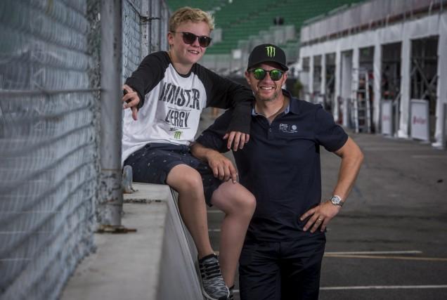 Petter Solberg et son fils Oliver participeront, pour... (François Gervais)