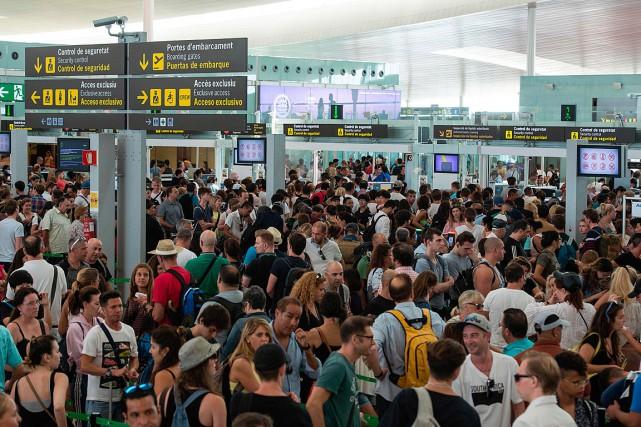 Une porte-parole d'Aena, le gestionnaire semi-public des aéroports... (PHOTO JOSEP LAGO, AGENCE FRANCE-PRESSE)