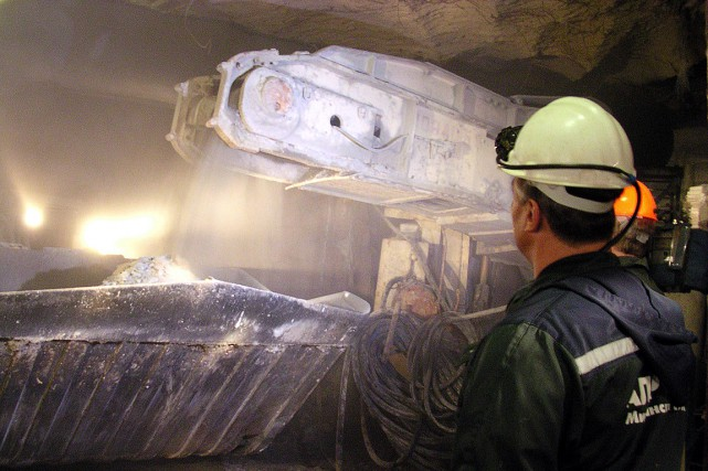 Mir (Paix), gisement exploité depuis 1958, était d'abord... (PHOTO LUCIE GODEAU, ARCHIVES AGENCE FRANCE-PRESSE)
