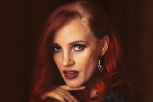 Jessica Chastain sur l'affiche de The Death and Life... (Image fournie par la production)