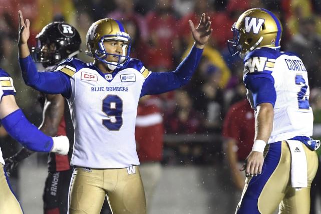 Le botteur des Blue Bombers de Winnipeg, Justin... (La Presse Canadienne)