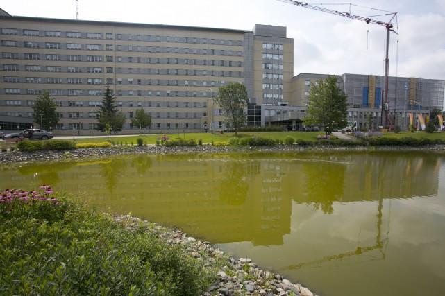 Le CIUSSS de l'Estrie-CHUS analysera l'eau du bassin... (Spectre Média, René Marquis)