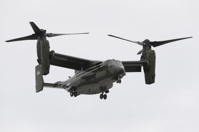 Le MV-22 Osprey se trouvait en Australie dans... (AP)